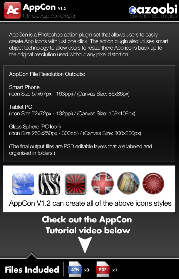 AppCon App Icon Creator — Photoshop ATN #app #cell phone • Available here → https://graphicriver.net/item/appcon-app-icon-creator/100581?ref=pxcr