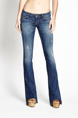 Bootcut Ultra-Low Rise Jeans in Cerise Wash | GUESS.ca