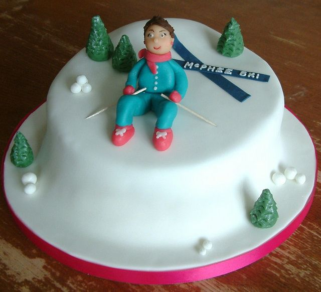 Winter Themed Birthday Cakes