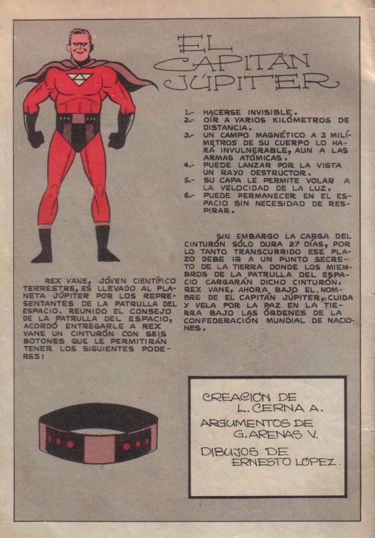 Capitán Júpiter # 1, junio 1966. Poderes (Comic Chile)