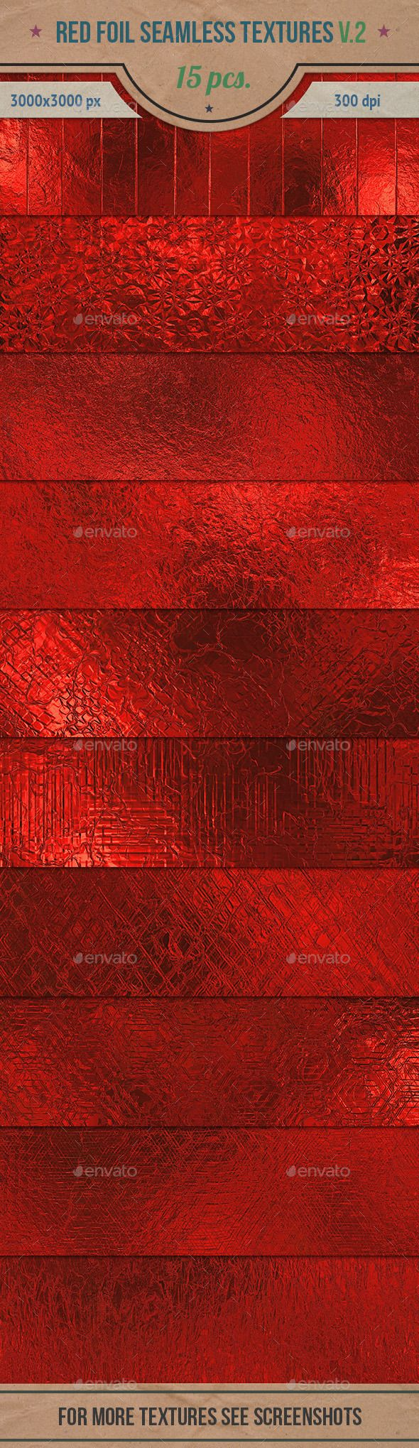 Red Foil Seamless HD Textures Pack v.2