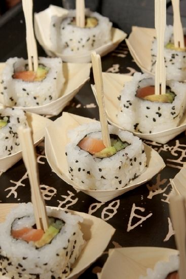 Sushi served as a canape / starter