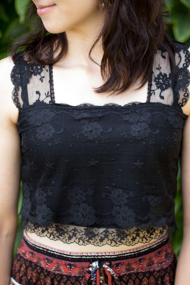 diy handmade crop top lace