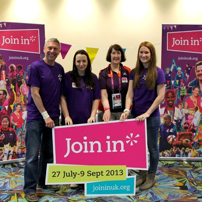 Dave Moorcroft & the Join In team were out in full force meeting Games Makers and other would-be volunteers