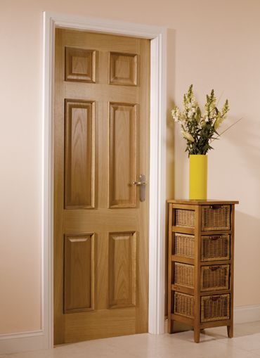 6 Panel Oak Internal Door