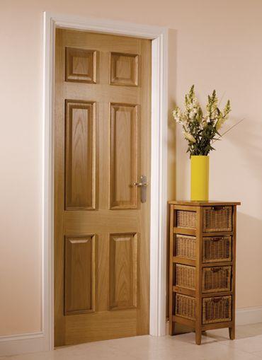 6 Panel Oak Internal Door