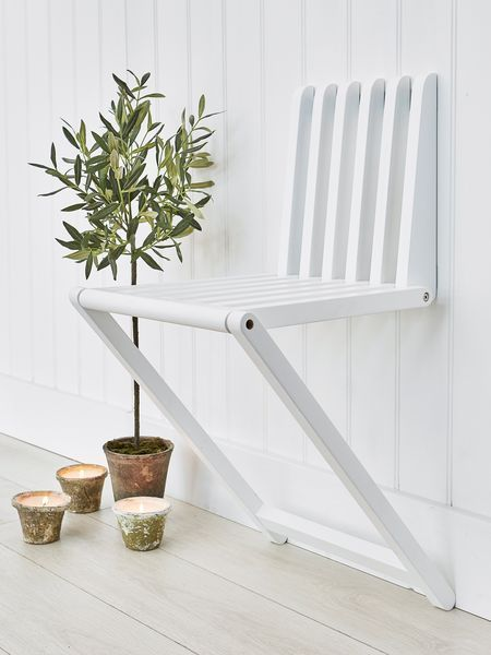 White Foldable Wall Chair – #Chair #Foldable #Wall…