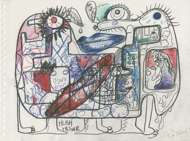 BJARNE MELGAARD Untitled, 2014  colored pencil on paper 11 × 14 in