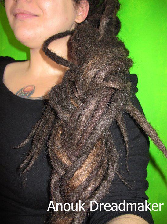 #anoukdreadmaker #dreadlocks #locks #synthetic #crocheted #extensions