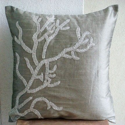 Down Throw Pillow Covers : Choosing an Autumn Color Scheme: Spice it Up or Cool it Down? Spotlight, Grey and Comforter