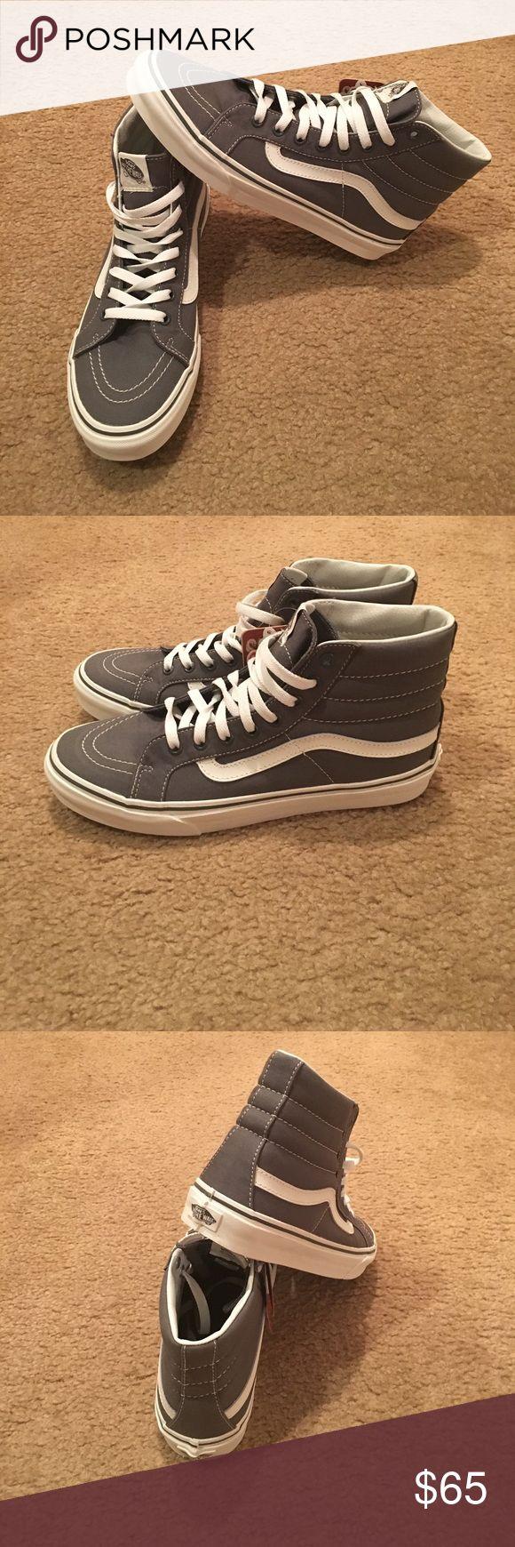Sayings SK8-Hi Slim Vans Skate Shoes New with tags. Castle rock/blanc de blanc Vans Shoes Sneakers