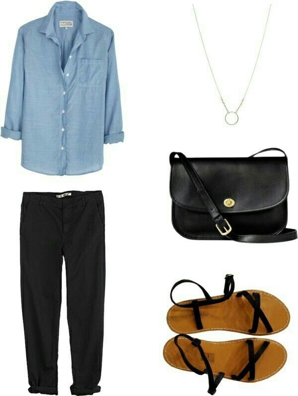 J'aime le style de pantalon avec la chemise. – #av…