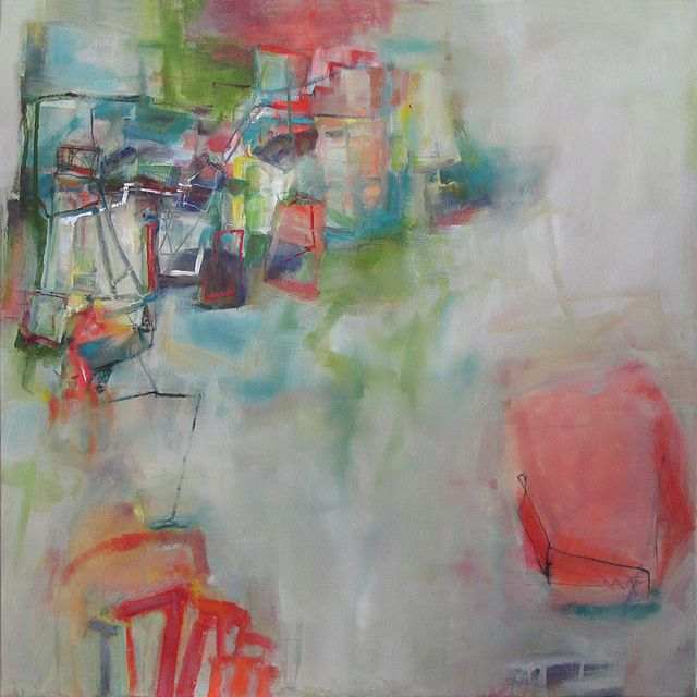 i love the sense of organized chaos in her art. it just works somehow. ..anne-laure dj.