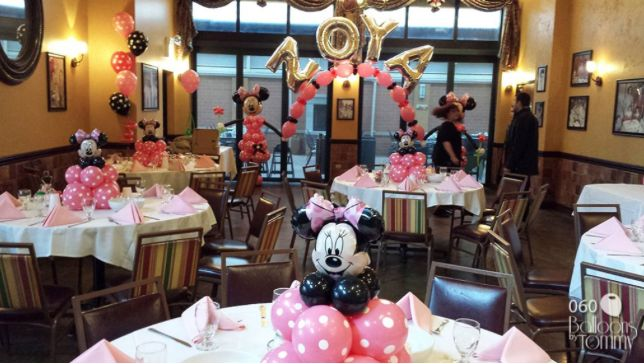 Disney Girl Balloon Centerpieces