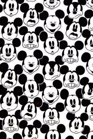 Mickey many faces wallpaper