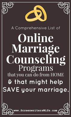 When marriage is tough and you don't know where to turn and going to counseling seems too hard to do: here's a list of online marriage counseling programs that you can do from home.
