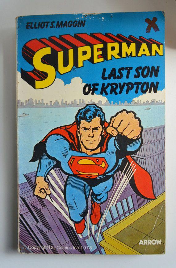 Vintage Superman Book Last Son Of Krypton by VictoriaEnglishCharm