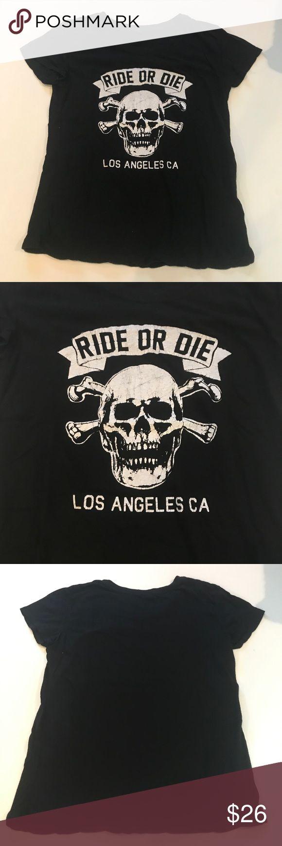 """John Galt Ride Or Die Black T Shirt John Galt Ride Or Die Black T Shirt. In good condition. Approximately 22"""" long. John Galt Tops Tees - Short Sleeve"""