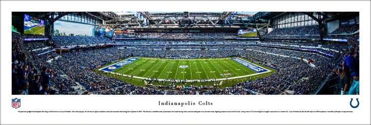 Indianapolis Colts Panoramic Picture - Lucas Oil Stadium Panorama - Unframed $29.95