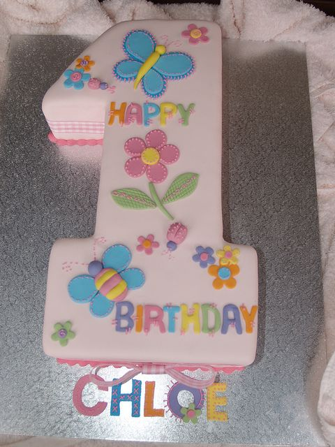 Number 1 Cake, Girl, Pink Patchwork Butterflies | Flickr - Photo Sharing!