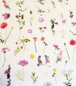 Whimsical floral, wild flowers, floral, Fabric By the Yard, apparel fabrics, 100% cotton, bedding, Art Gallery Fabrics, soft, premium