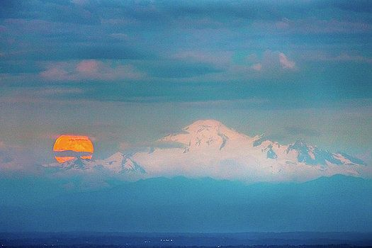 Art Calapatia - Mount Baker Moonrise 1