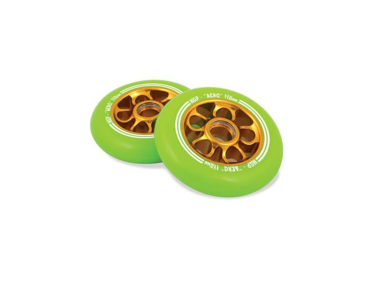 Madd Gear MGP Green/Gold Flow Alloy Core 110mm Scooter Wheel