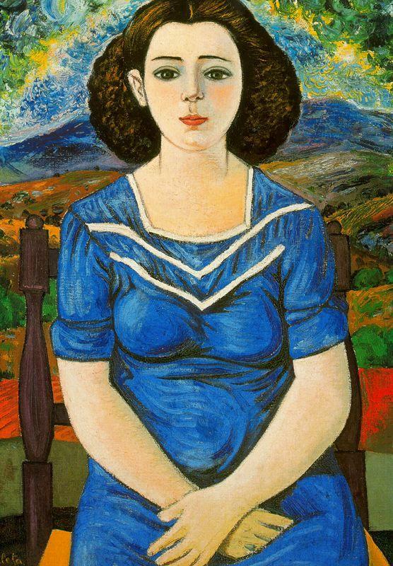 Portrait of seated brunette, 1948 Rafael Zabaleta