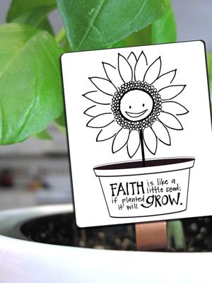GROWING SEEDS OF FAITH free printable seedling tag via Year of FHE.