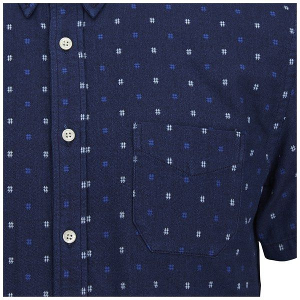 Edwin Men's Classic Short Sleeve Cotton Slim Shirt - Indigo Check: Image 21