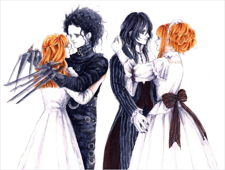 Edward Scissorhands Married Art Fan
