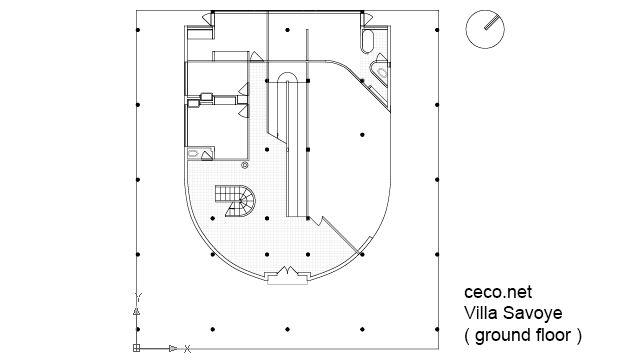 Villa savoye plan 20 pinterest villa for Costruttore blueprint gratuito
