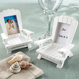 Adirondack Chair Frame/Placecard Holder, White, 4-Pack
