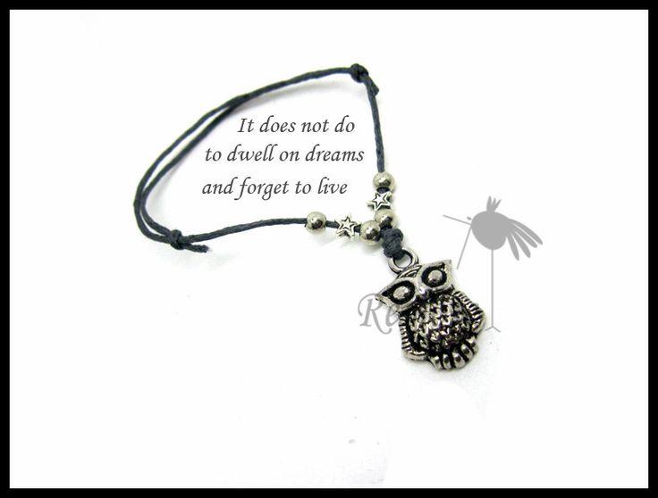 Это не останавливаться на dreams и забыть , чтобы жить - альбус дамблдор цитата дружба браслет вощёная хлопок шнур BF074