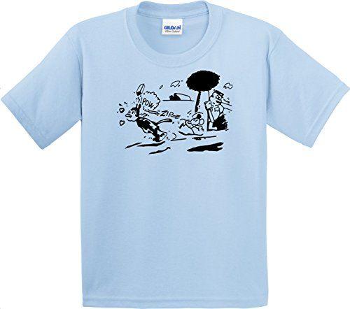 Port and Company Mens Krazy Kat Shirt Light Blue (X-Large) @ niftywarehouse.com