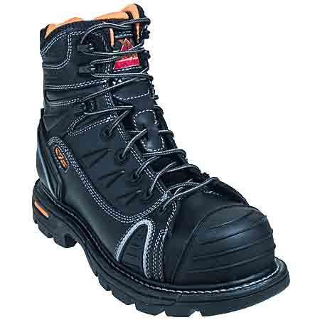 Thorogood Boots: Men's Black Composite Toe 804-6444 Non-Metallic EH Work Boots #CarharttClothing #DickiesWorkwear #WolverineBoots #TimberlandProBoots #WolverineSteelToeBoots #SteelToeShoes #WorkBoots #CarharttJackets #WranglerJeans #CarhartBibOveralls #CarharttPants
