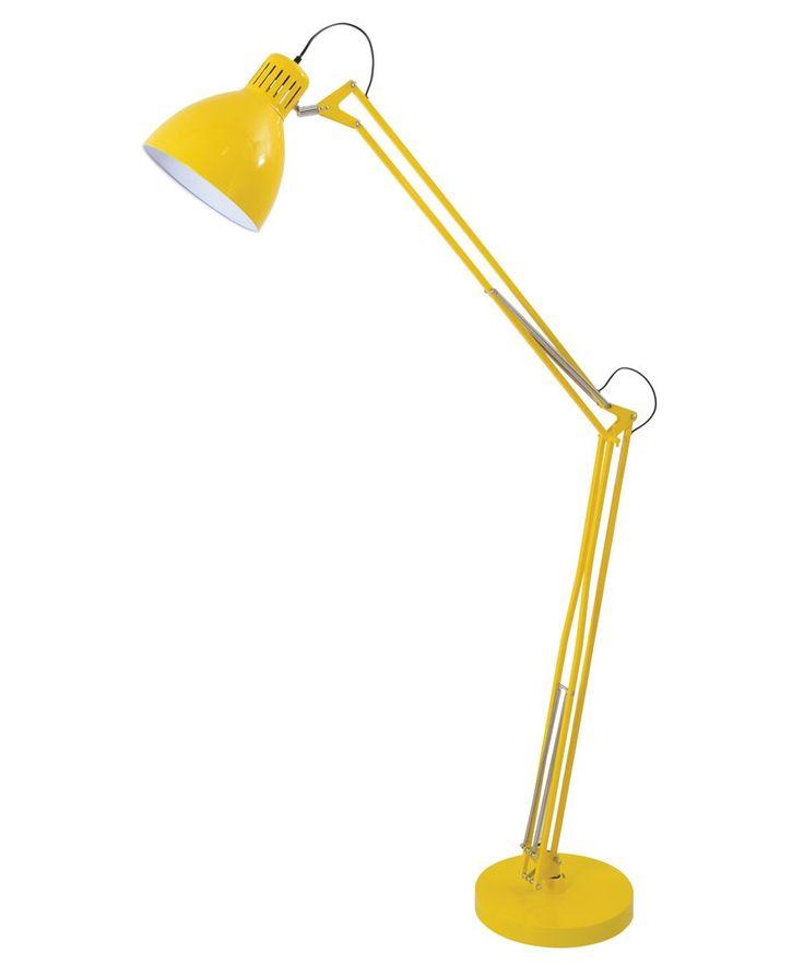 Archer 1 Light Floor Lamp in Yellow