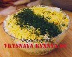 Картофельный салат с сыром и беконом