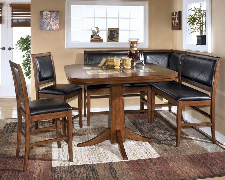 dining room table corner bench set ashley crofton ideas