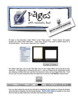 """Mac Users:  This set of """"cheat-sheets"""" will help you transition from Appleworks to PAGES.  Pages is a great program... you'll love it!  Use this FREE reference tool to help you get started."""