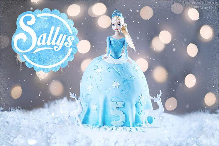 Elsa Frozen Geburtstagstorte für einen Kindergeburtstag. Mädchen Party