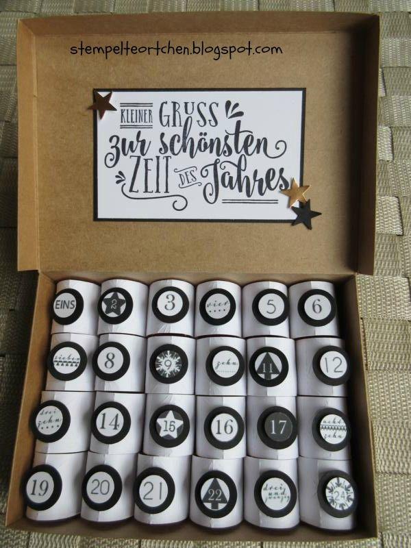 Heute habe ich einen etwas anderen Adventskalender zum Zeigen - gefüllt ist er mit ganz viel Liebe und 24 Küsschen. Für den Kalende...