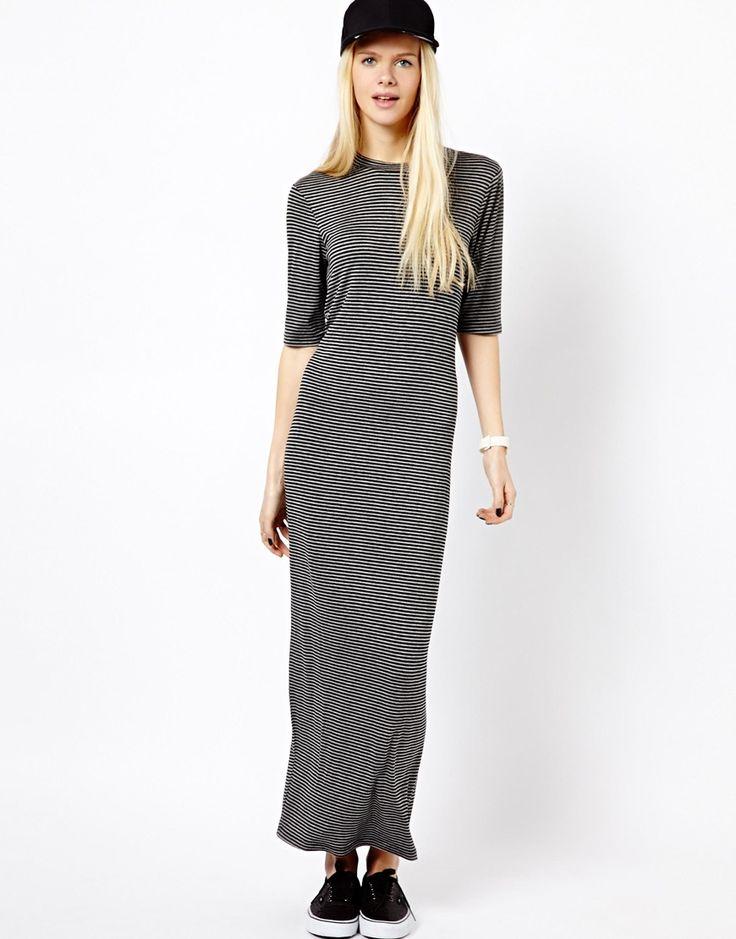 Monki Stripe Maxi Dress