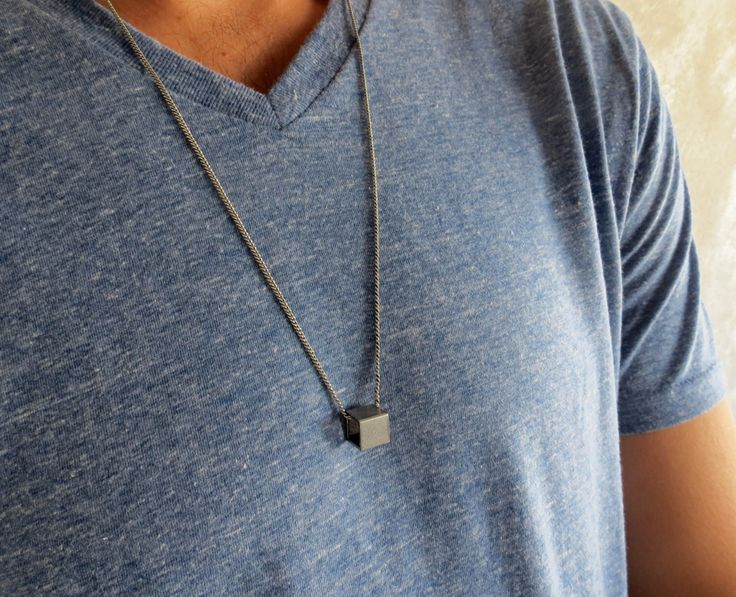 Men's Necklace - Men's Geometric Necklace - Men's Silver Necklace - Mens Jewelry - Necklaces For Men - Jewelry For Men - Gift for Him by Galismens on Etsy https://www.etsy.com/listing/206950214/mens-necklace-mens-geometric-necklace