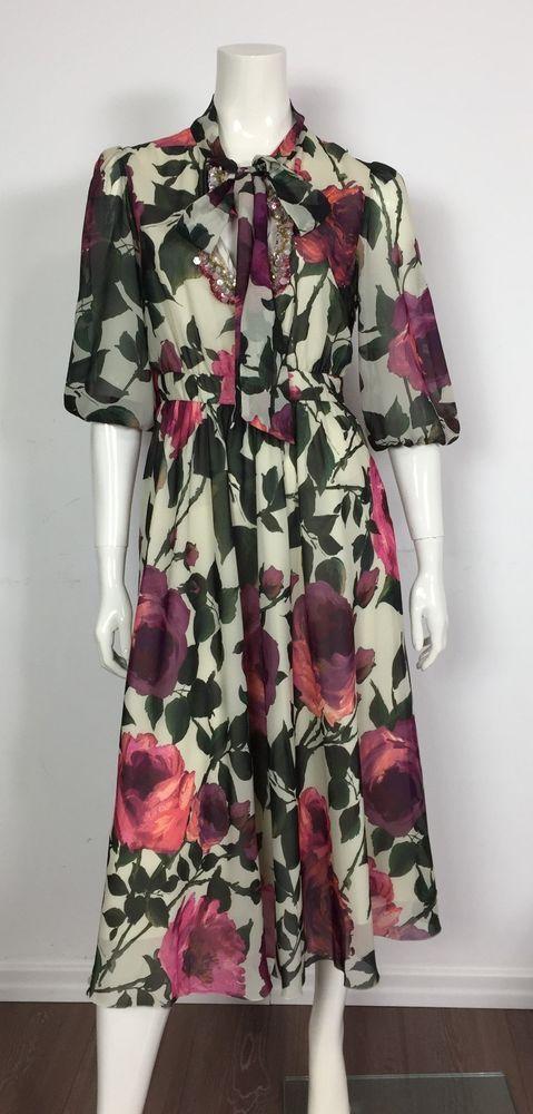 Blugirl blumarine abito luxury floreale nuovo vestito top sexy cerimonie  T3700 746bf30b15a