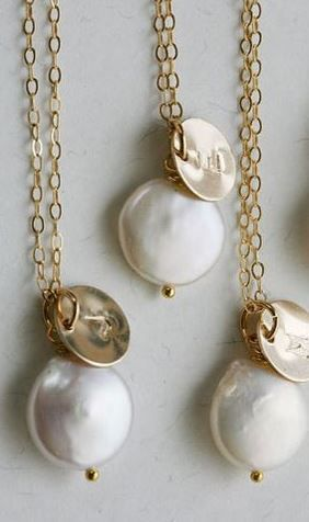 Personalized Pearl Necklaces.