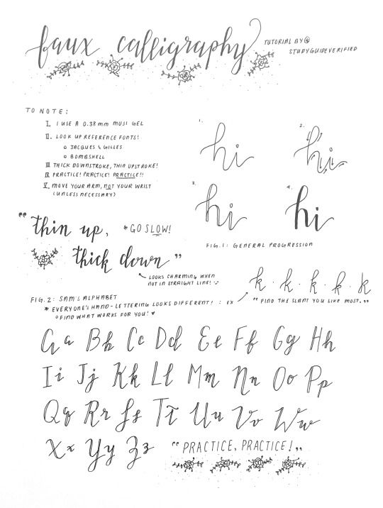 artistic handwriting and lettering