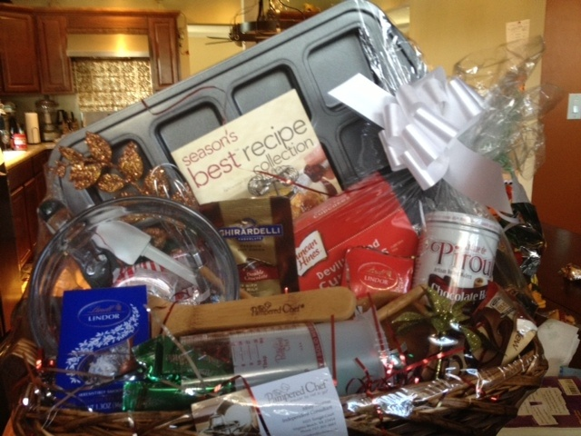 The Chocolate Basket!  This is the perfect gift for the chocolate lover, and includes the wonderful Brownie Pan!  Ask me about other baskets!
