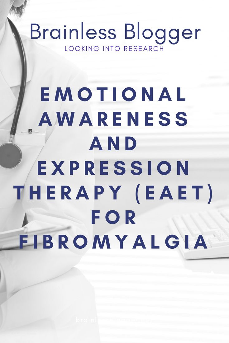 emotonal awareness and expression #therapy for #fibromyalgia