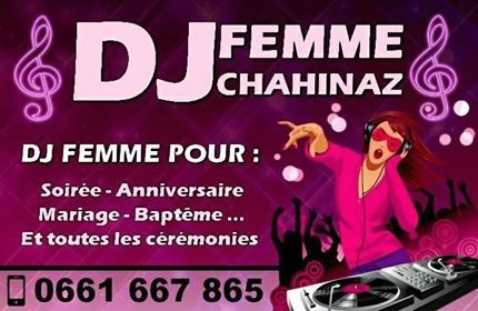 DJ FEMME SUR CASABLANCA MOHAMMEDIA RABAT MARIAGE ANNIVERSAIRE SOIREE VIP 0661667865